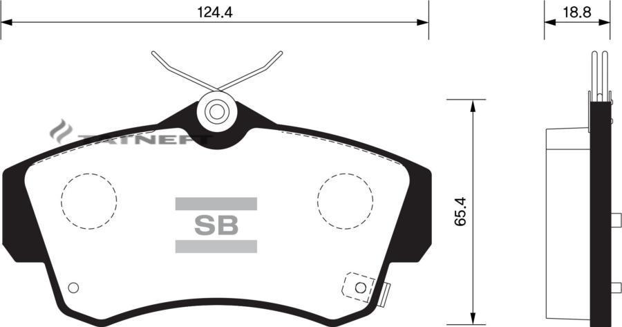 Колодки тормозные передние SP1359
