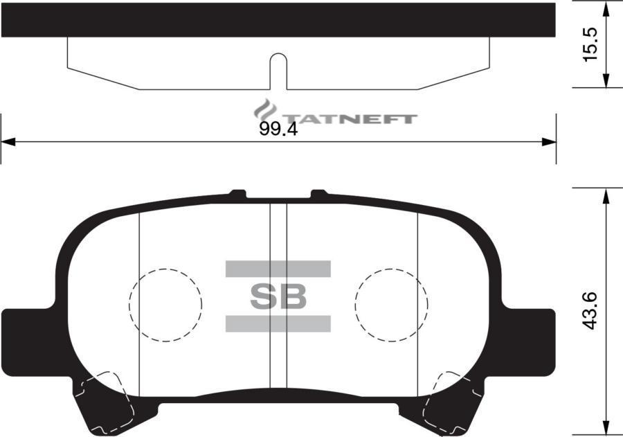 Колодки тормозные задние SP1364
