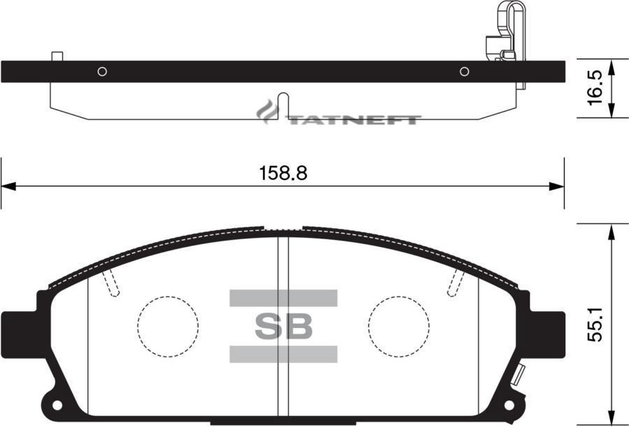 Колодки тормозные передние SP1365