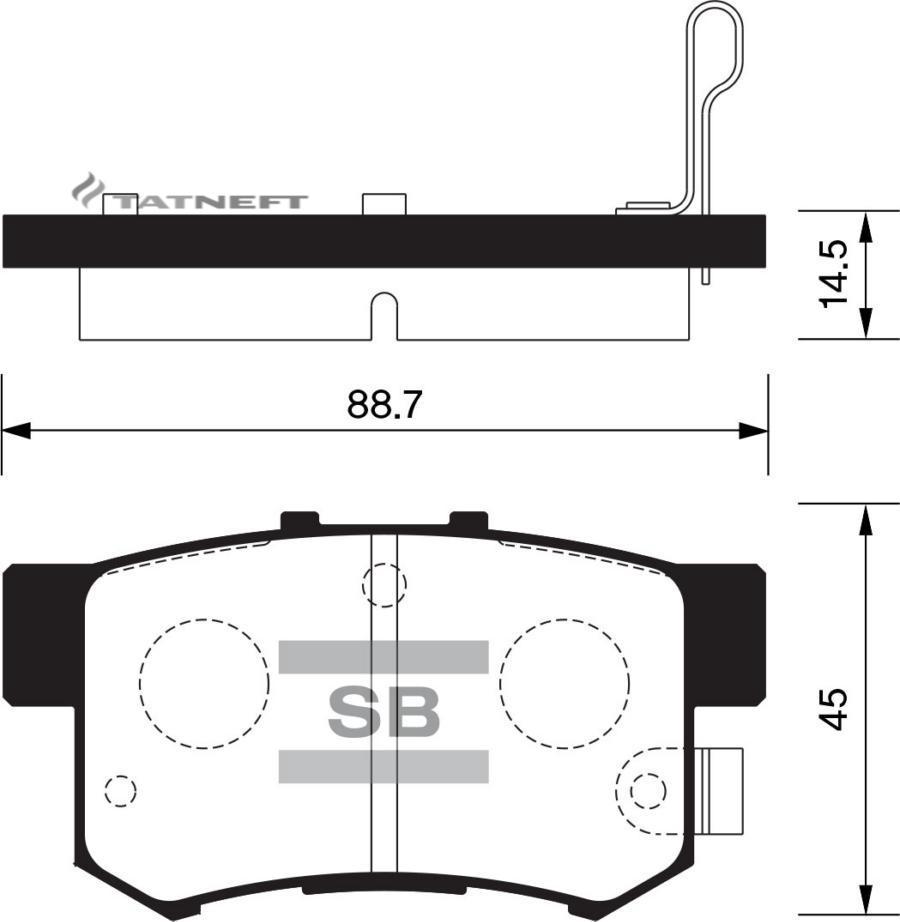 Колодки тормозные задние SP1368
