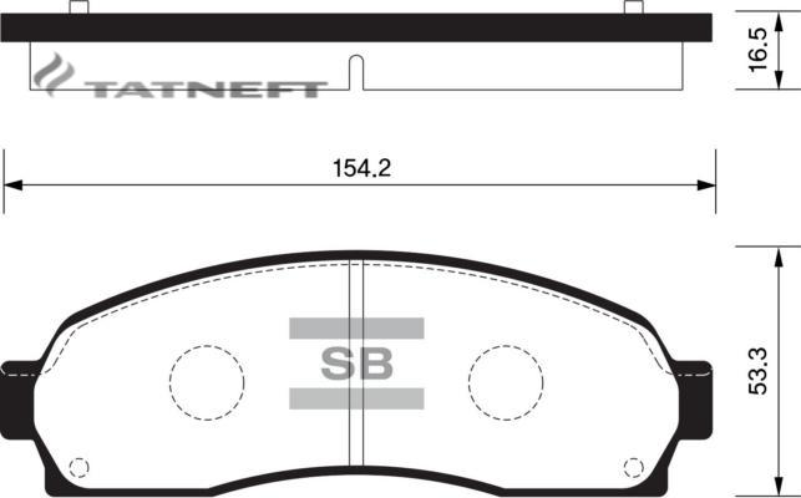 Колодки тормозные передние SP1396