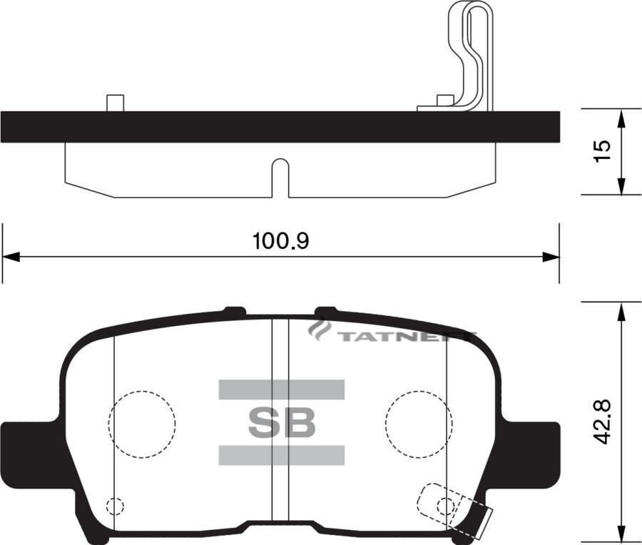 Колодки тормозные задние SP1371