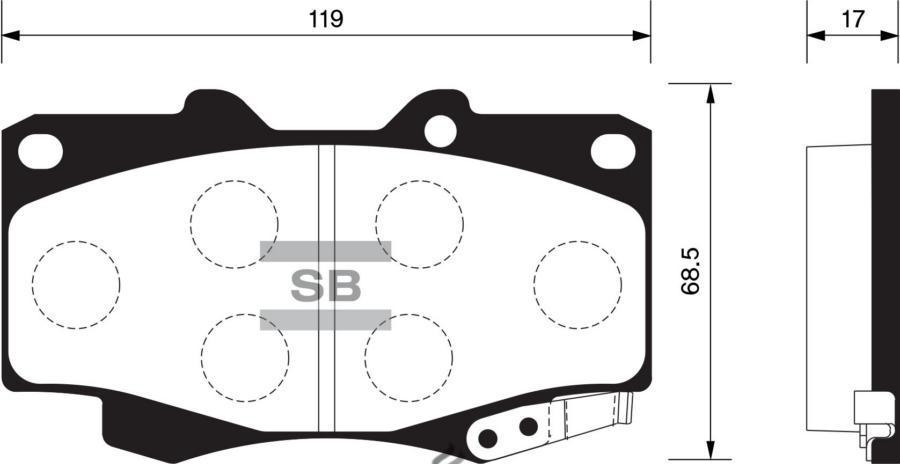 Колодки тормозные передние SP1375