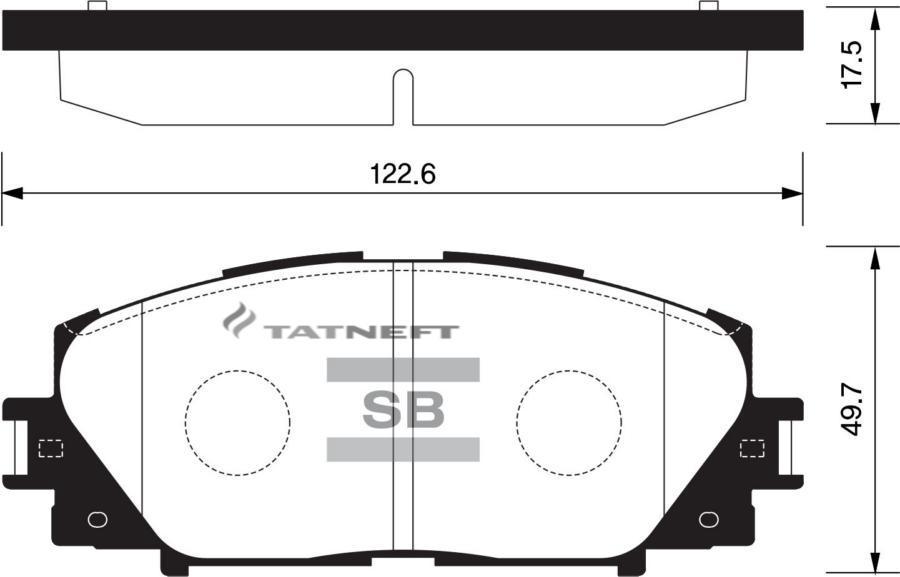 Колодки тормозные передние SP1377