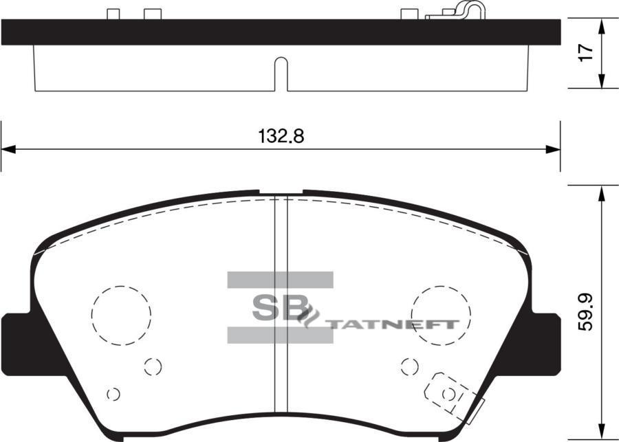 Колодки тормозные передние SP1400