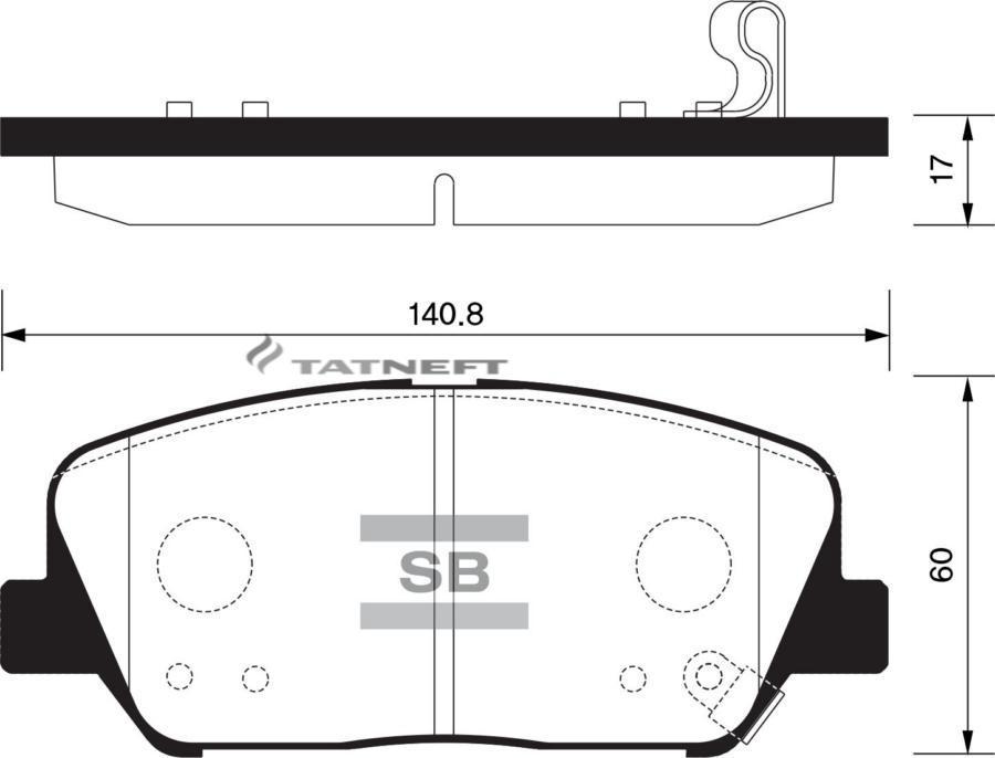 Колодки тормозные передние SP1403