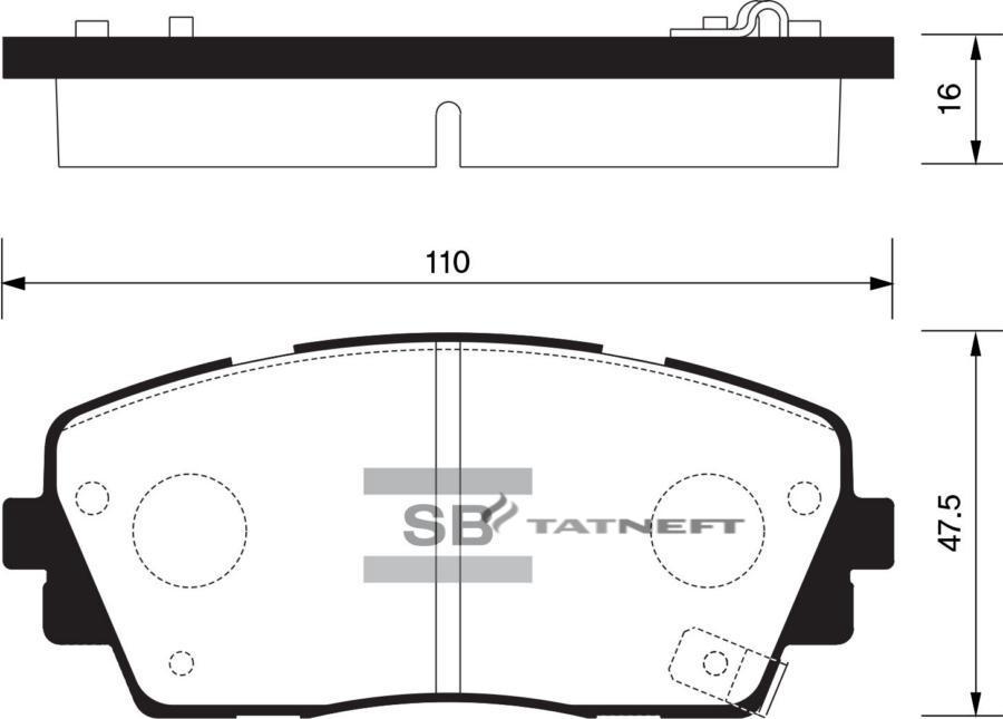 Колодки тормозные передние SP1405