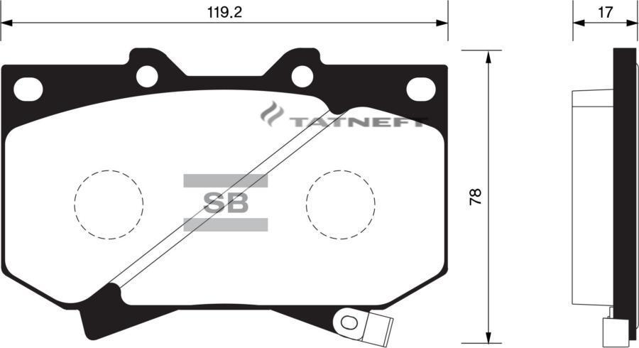 Колодки тормозные передние SP1422