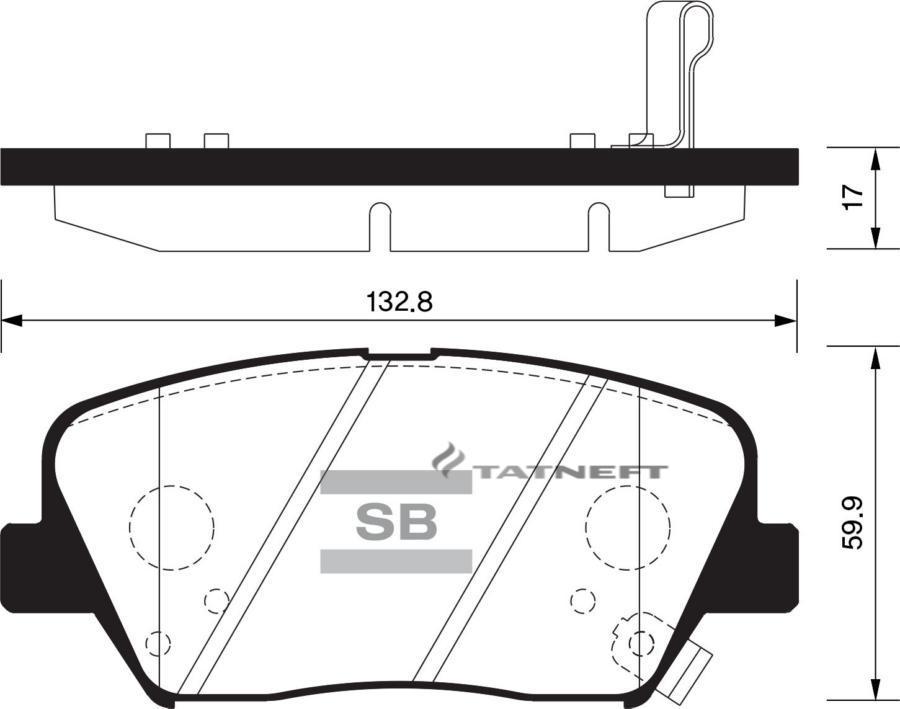 Колодки тормозные передние SP1424
