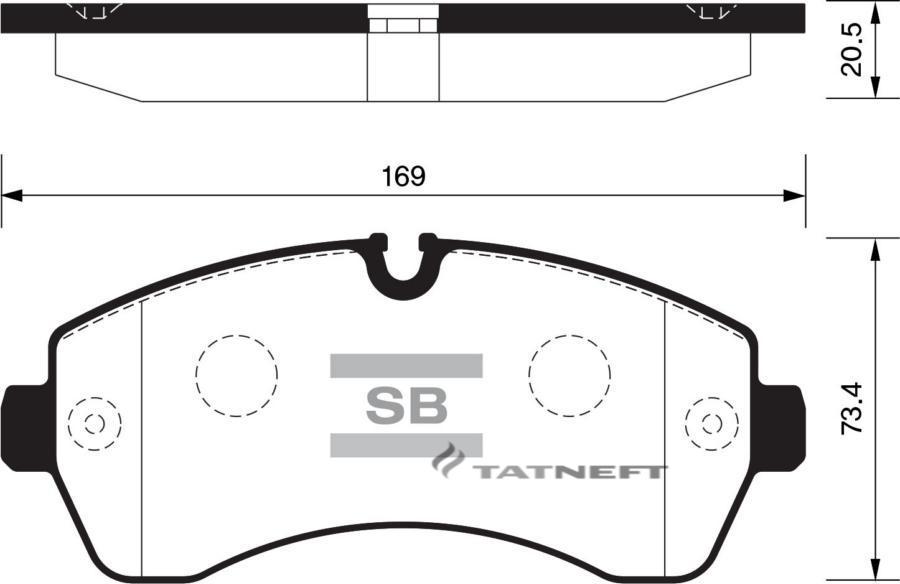 Колодки тормозные передние SP1425