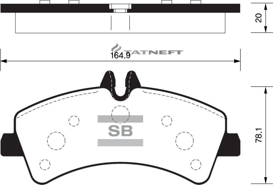 Колодки тормозные задние SP1426