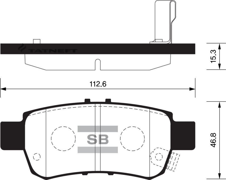 Колодки тормозные задние SP1428
