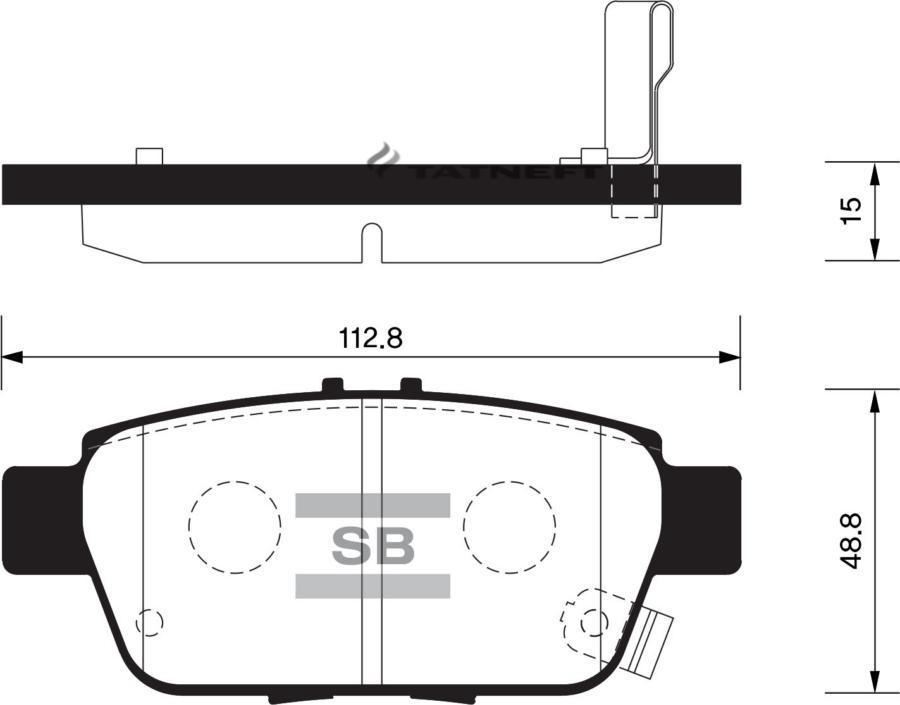 Колодки тормозные задние SP1430