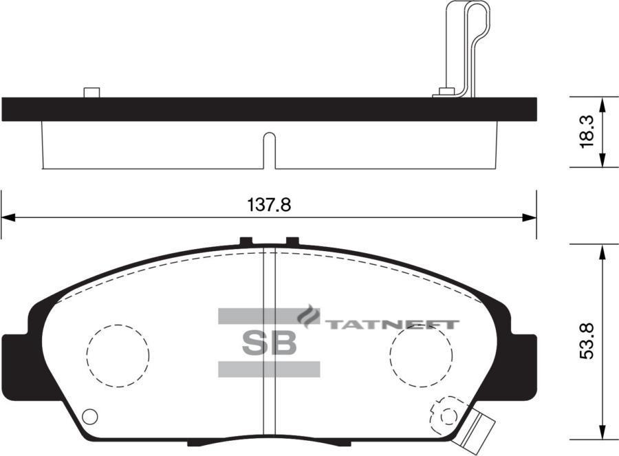 Колодки тормозные передние SP1431