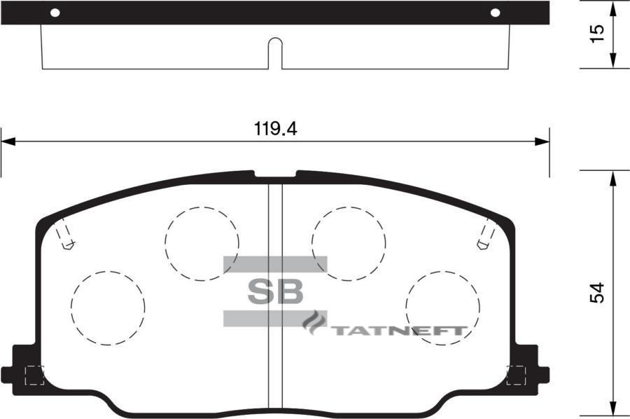 Колодки тормозные передние SP1436