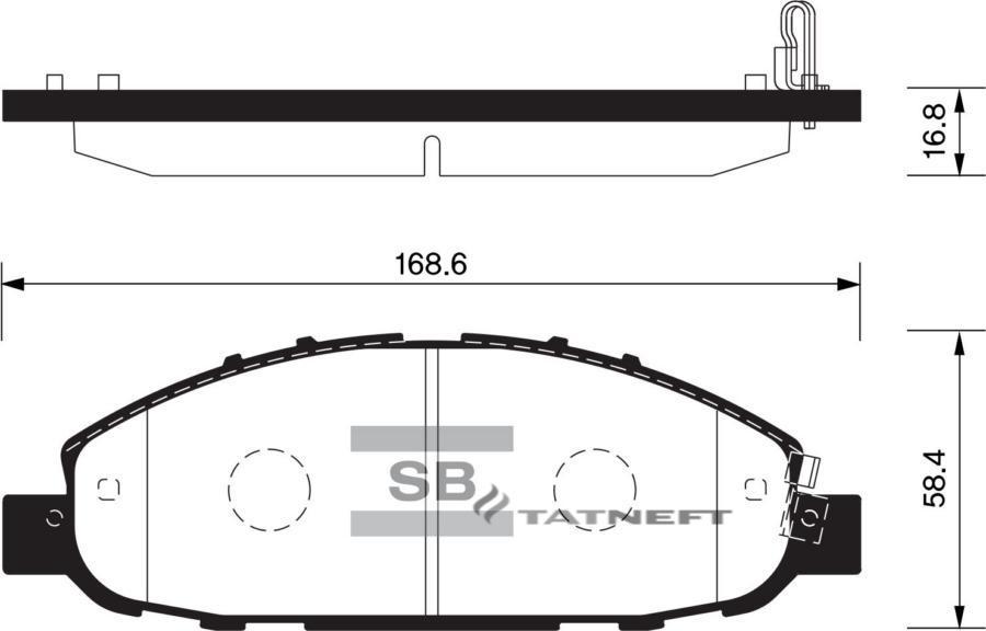 Колодки тормозные передние SP1447