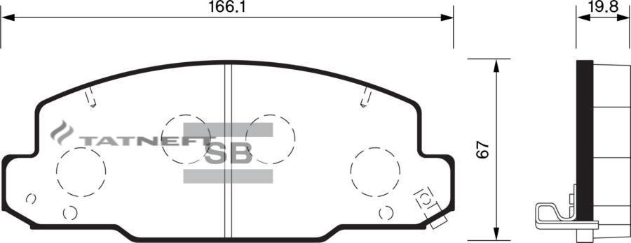 Колодки тормозные передние SP1450