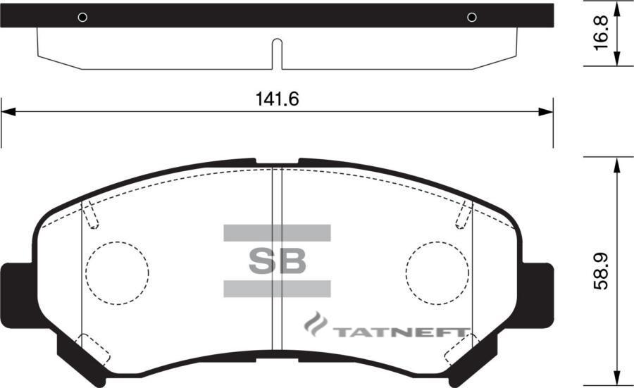 Колодки тормозные передние SP1451