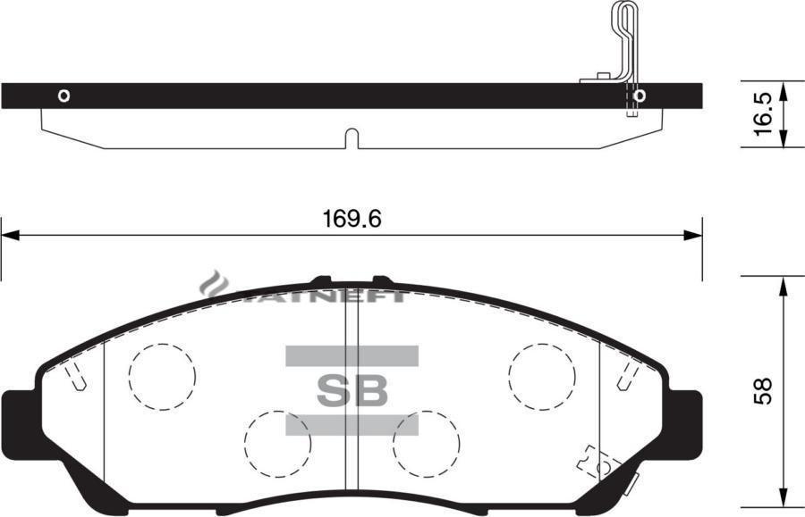 Колодки тормозные передние SP1452