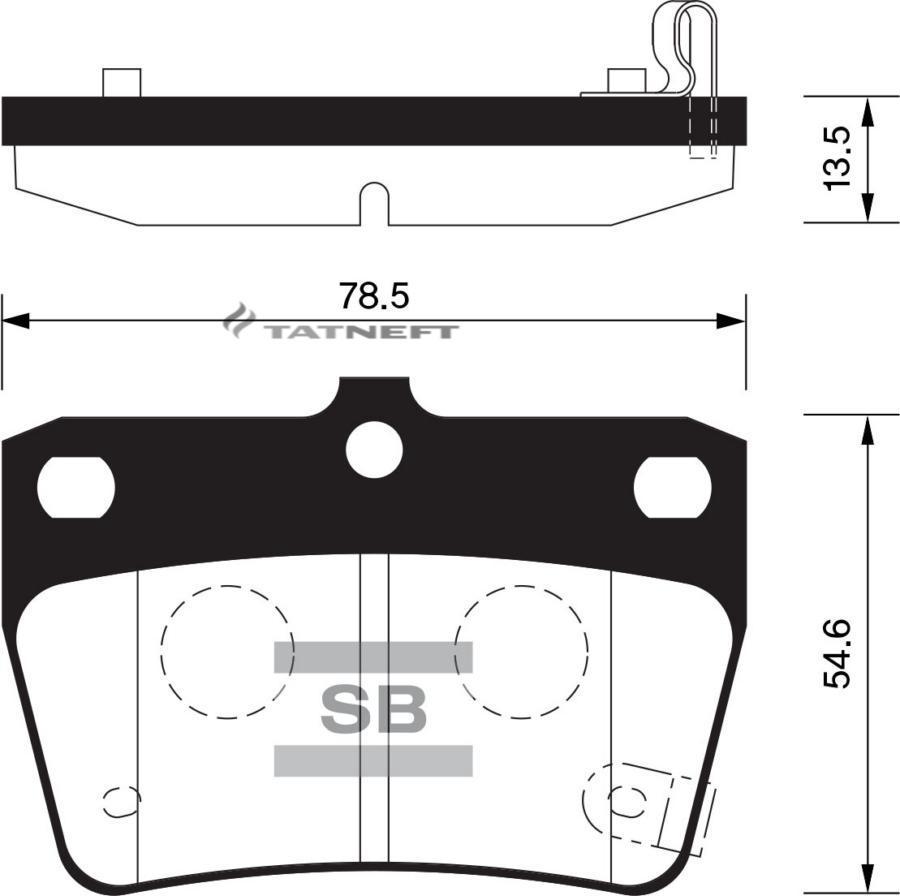 Колодки тормозные задние SP1457