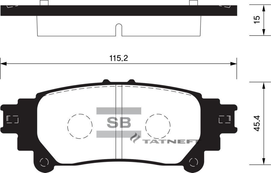 Колодки тормозные задние SP1458