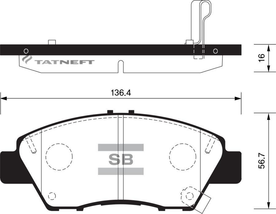 Колодки тормозные передние SP1463