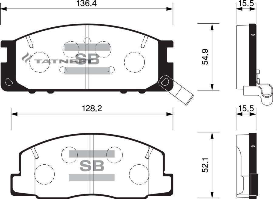Колодки тормозные передние SP1464