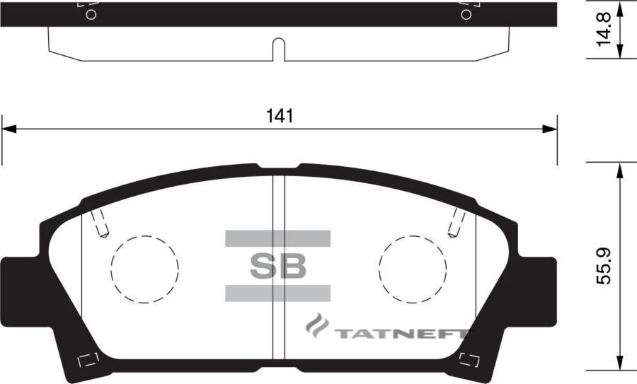 Колодки тормозные передние SP1466