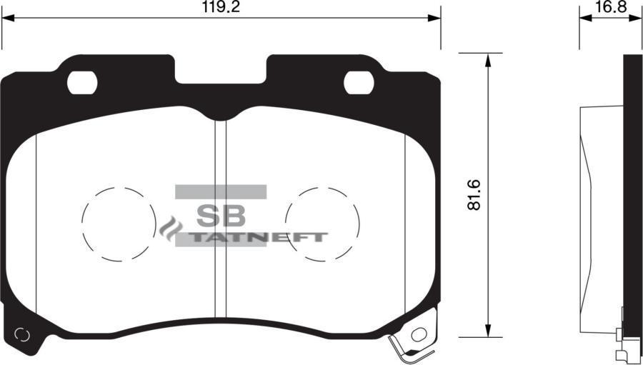 Колодки тормозные передние SP1467