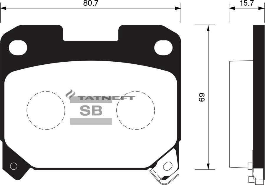 Колодки тормозные задние SP1468