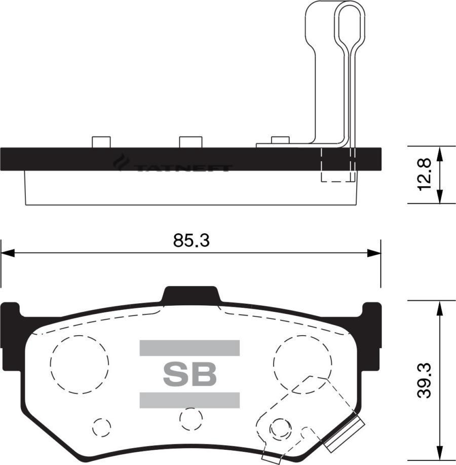 Колодки тормозные задние SP1469