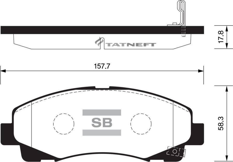 Колодки тормозные передние SP1470