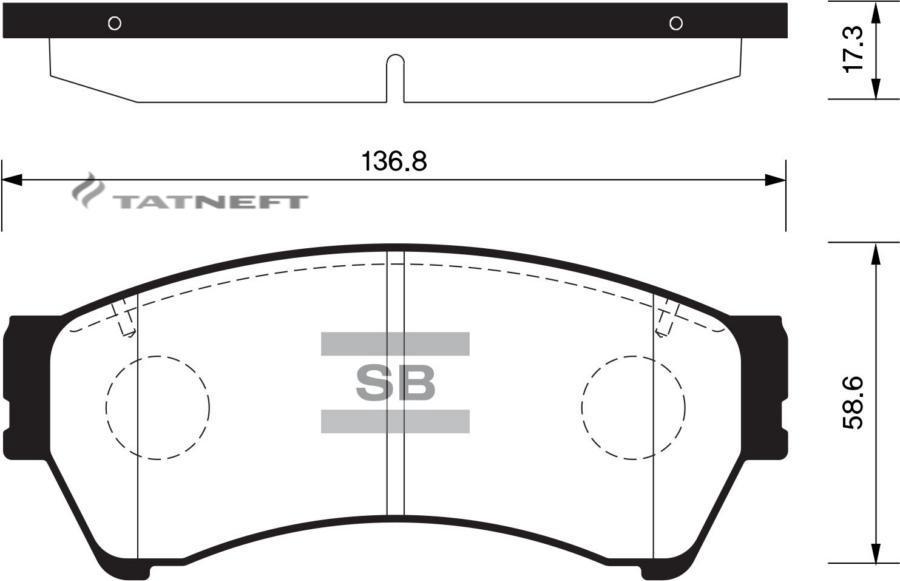 Колодки тормозные передние SP1475
