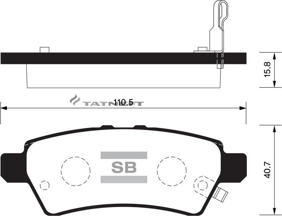Колодки тормозные задние SP1477
