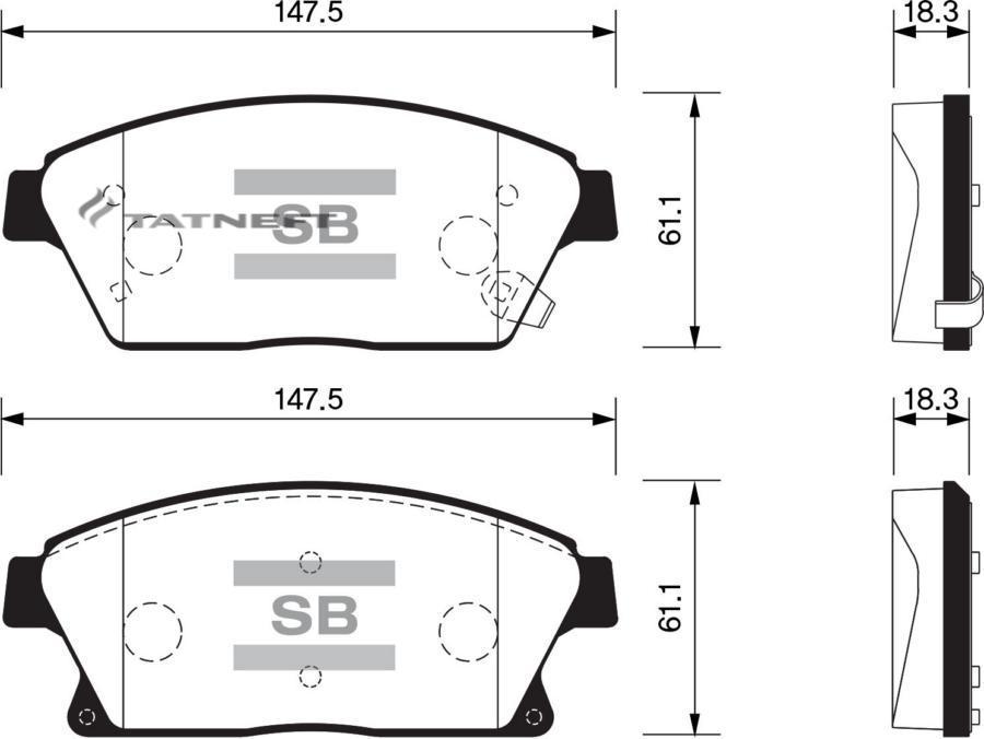Колодки тормозные передние SP1480