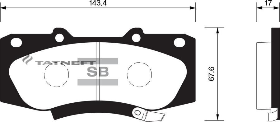 Колодки тормозные передние SP1484
