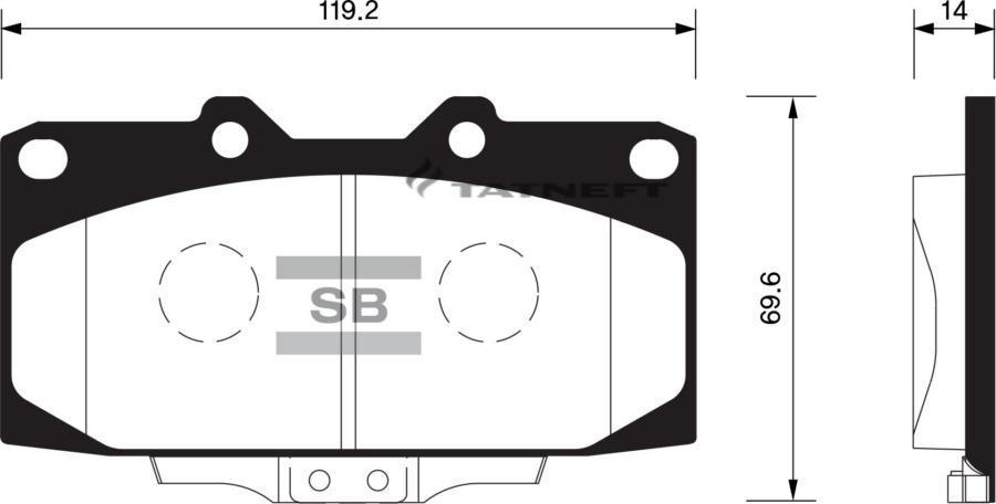 Колодки тормозные передние SP1486