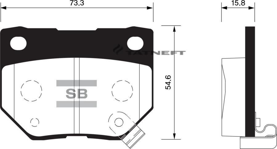 Колодки тормозные задние SP1487