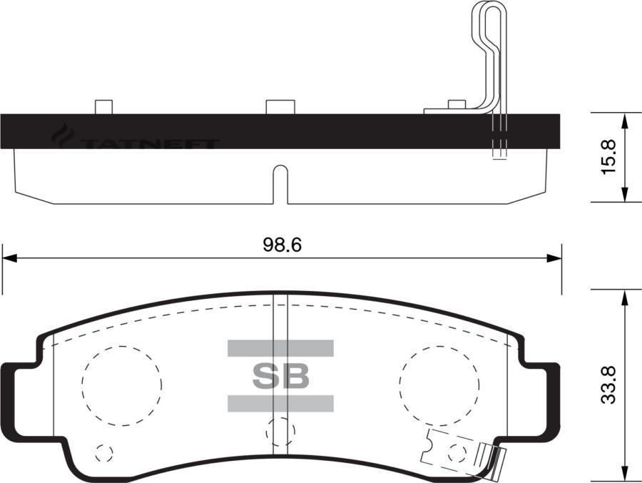 Колодки тормозные задние SP1490