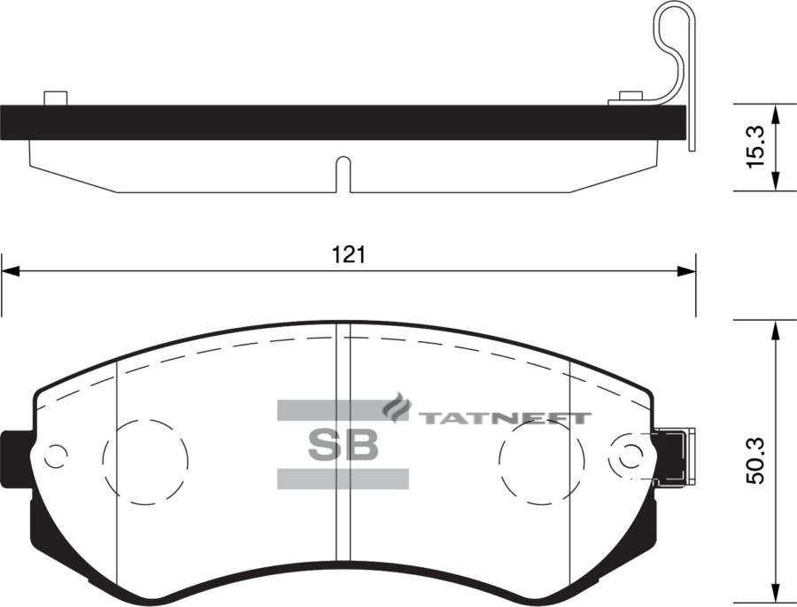 Колодки тормозные передние SP1492