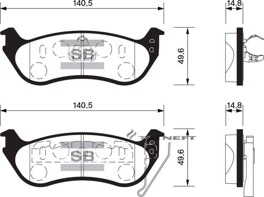 Колодки тормозные задние SP1511