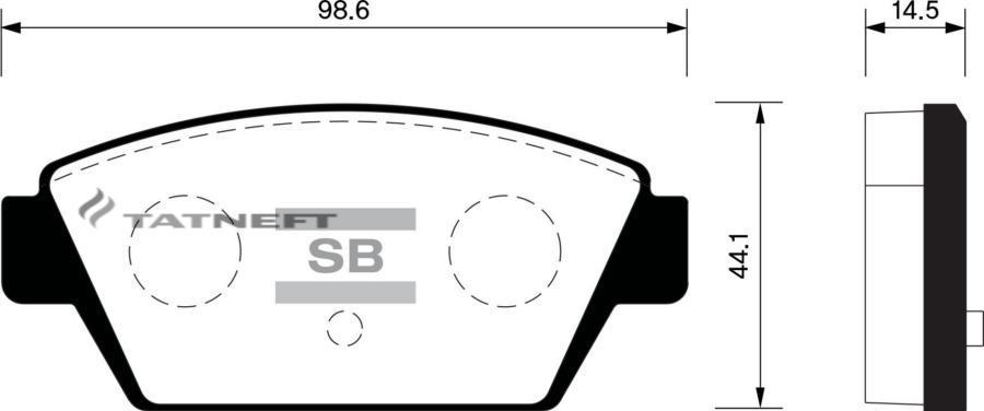 Колодки тормозные задние SP1514
