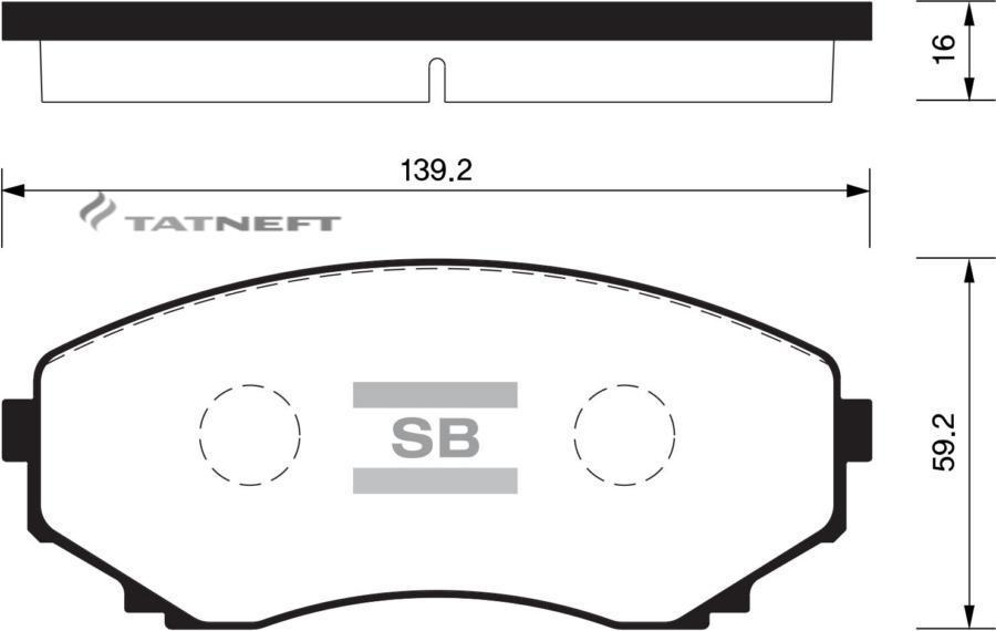 Колодки тормозные передние SP1527
