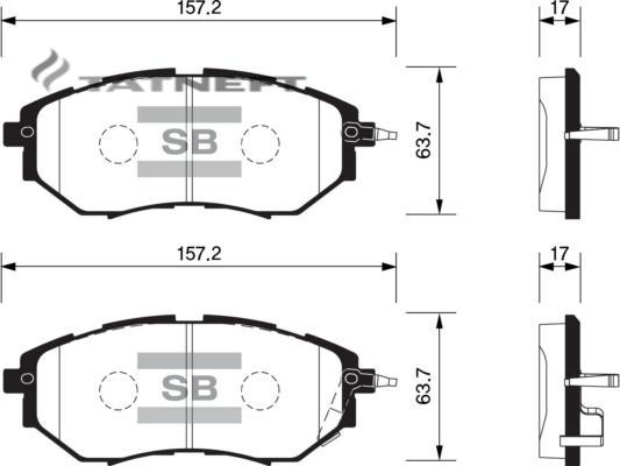 Колодки тормозные передние SP1534