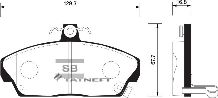 Колодки тормозные передние SP1571