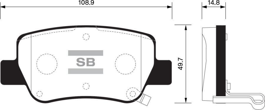 Колодки тормозные задние SP1578