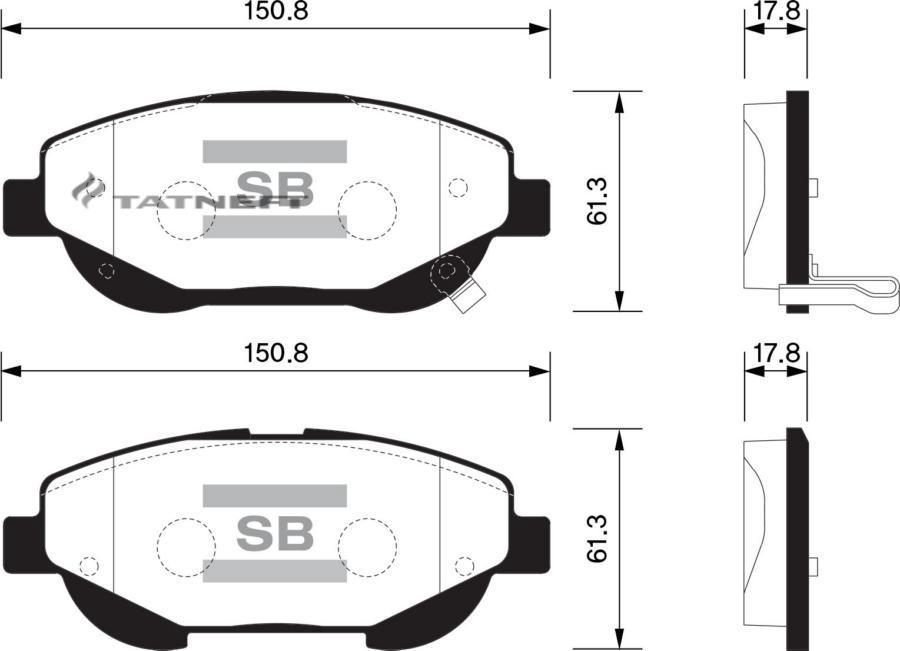 Колодки тормозные передние SP1579