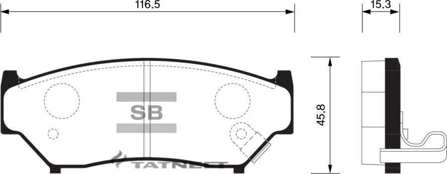 Колодки тормозные передние SP1584
