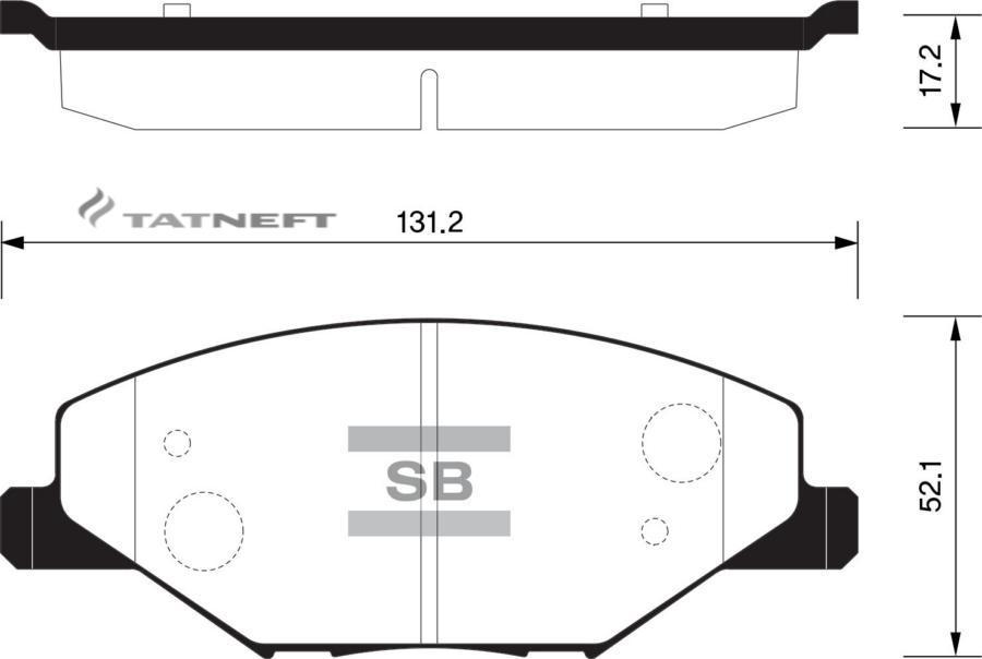 Колодки тормозные передние SP1595