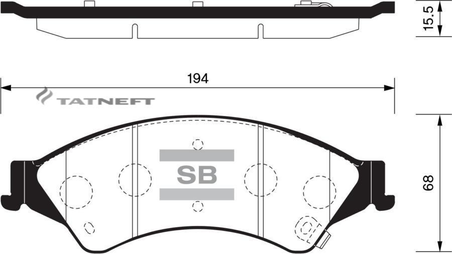 Колодки тормозные передние SP1596